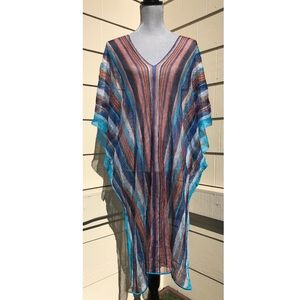 MISSONI Crochet Knit KAFTAN COVER-UP Beach Poncho